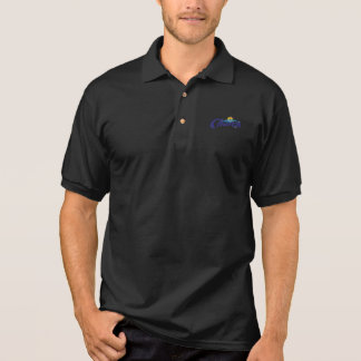 Camisa preta do golfe dos homens t-shirt polo