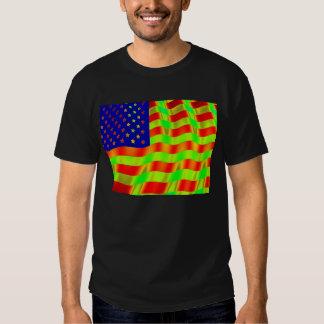 Camisa psicadélico da bandeira tshirt