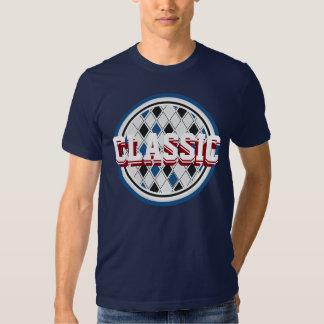 Camisa retro clássica Customisable do diamante do T-shirt