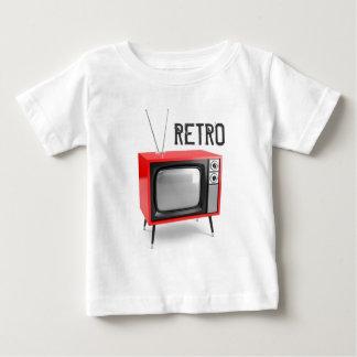 Camisa retro da criança da tevê