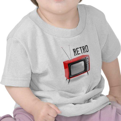 Camisa retro da criança da tevê tshirt