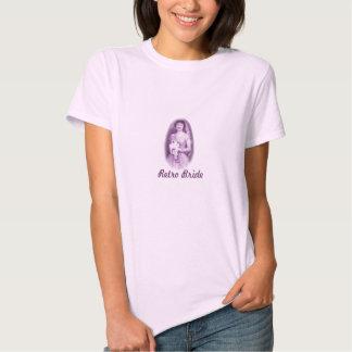 Camisa retro da noiva camisetas