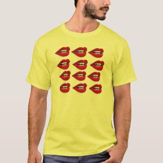 camisa retro dos beijos do anos 80