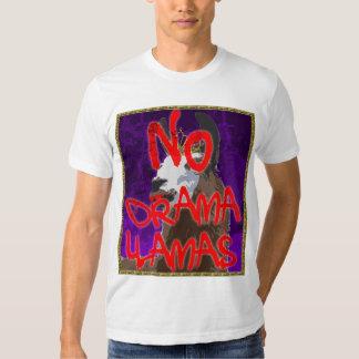 Camisa roxa do lama do drama - NENHUNS lamas do Tshirt