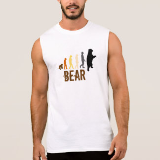 Camisa Sem Manga O urso/subida do urso do homem colore (lg) Sem