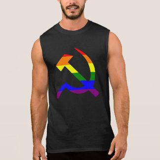 Camisa Sem Mangas Martelo e foice do arco-íris