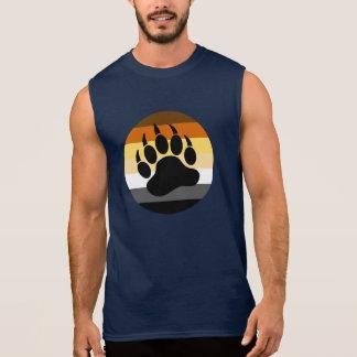 Camisa Sem Mangas Pata de urso no círculo do orgulho do urso (grande