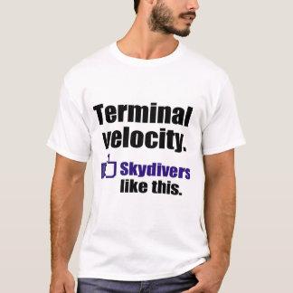 Camisa skydiving engraçada: Velocidade terminal