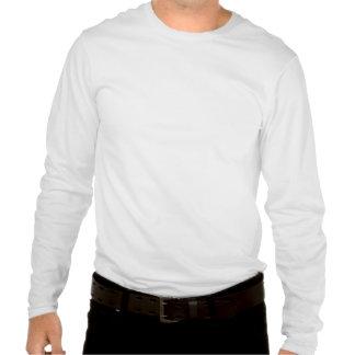 camisa sleeved longa branca de T com nuvens bonita Tshirt