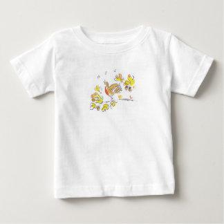 Camisa temático do outono T com pisco de peito Camisetas