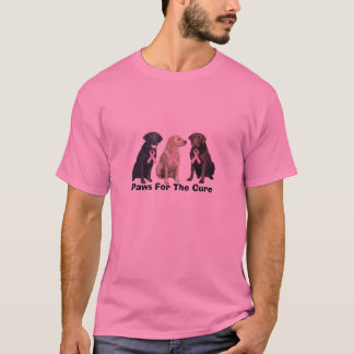 Camisa unisex do cancro da mama de labrador