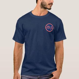 Camisa vermelha & azul de Sun Tzu do selo