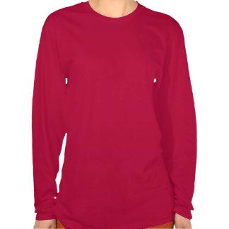Camisa vermelha quadro de Lotus da aguarela Tshirt