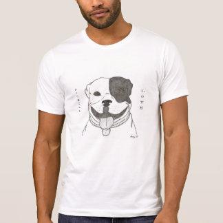 Camisas do amor de Pitbull Camisetas