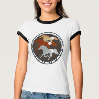 Camisas do cavalo e do protetor