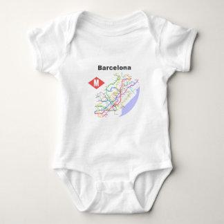 Camisas do mapa do metro de Barcelona