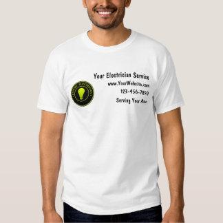 Camisas do trabalho do eletricista camiseta