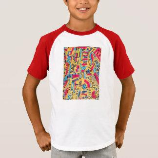 Camisas dos miúdos por desenhistas abstratos
