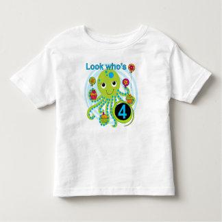 Camisas e presentes do aniversário T do polvo 4ns Camisetas