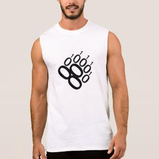Camisas Sem Manga Pata de urso binária (preto)