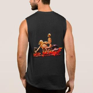 Camisas Sem Manga Roupa do Dia das Bruxas do motociclista