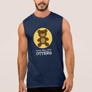 Camisas Sem Mangas Jogos do urso de ursinho bem com lontras