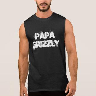 Camisas Sem Mangas Pata de urso do urso da papá