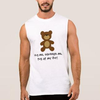 Camisas Sem Mangas Reboque em meu urso alegre da pele