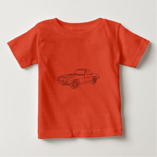Camiseta 1966 Roadster de Corveta - Lt Tecido