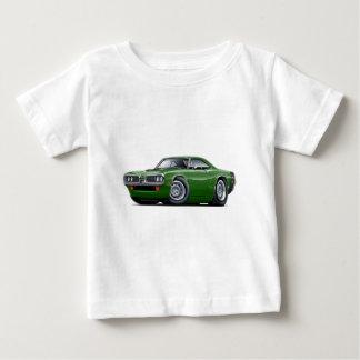 Camiseta 1970 carros Verde-Pretos da abelha super