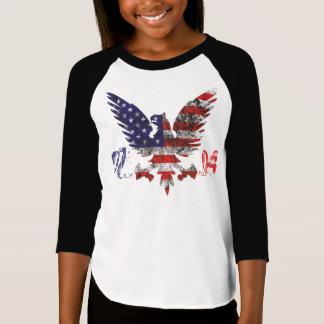Camiseta 4 de julho design para a rapariga!