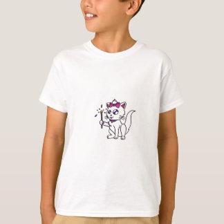 Camiseta 4o feliz do Dia da Independência do gatinho do