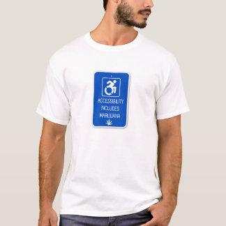 Camiseta A acessibilidade inclui a erva daninha