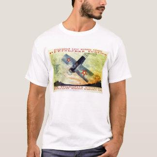 Camiseta A aviação é o poder da república soviética