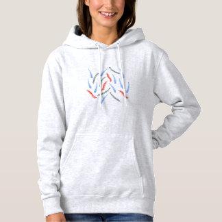 Camiseta A camisola encapuçado das mulheres dos ramos