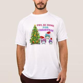 Camiseta A coruja seja Home para o Natal