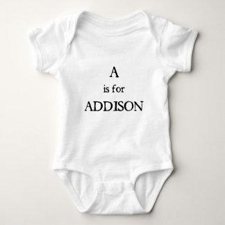 Camiseta A é para Addison