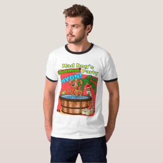 Camiseta A festa de Natal do cão louco