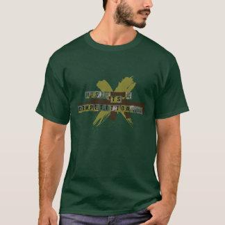 """Camiseta A """"música é uma competição """""""