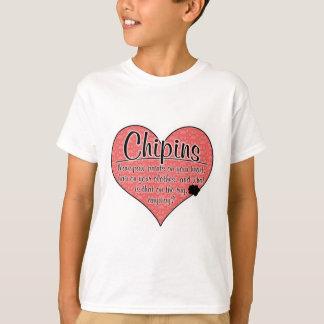 Camiseta A pata de Chipin imprime o humor do cão