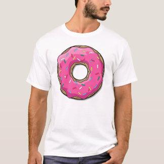 Camiseta A rosquinha cor-de-rosa dos desenhos animados com