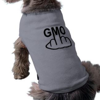 Camiseta A roupa do cão diz não a GMO