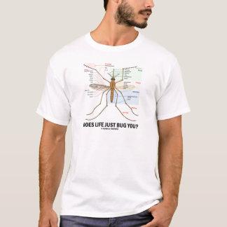 Camiseta A vida apenas desinseta-o? (Anatomia do mosquito)