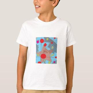 Camiseta Abstrato do wow para meninas