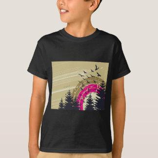Camiseta abstrato psicadélico do sul dos pássaros