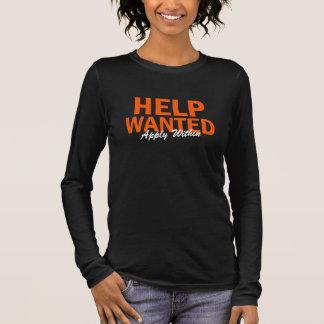 Camiseta Agora o aluguer querido ajuda aplica-se dentro