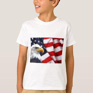 Camiseta Águia americana norte-americana na bandeira 376ab16d0ce39