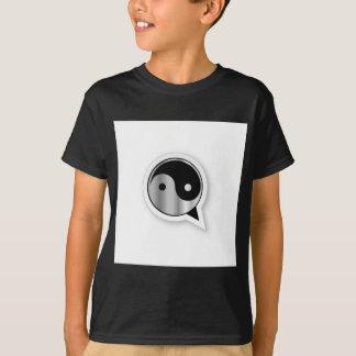 Camiseta Alfabeto Q com ying e o yang