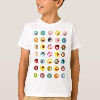 Camiseta alfabetos