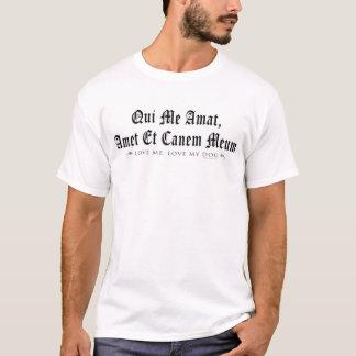 Camiseta Ame-me, ame-o meu cão